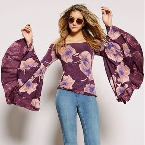 FREE PEOPLE Floral Top  New. Sz XS